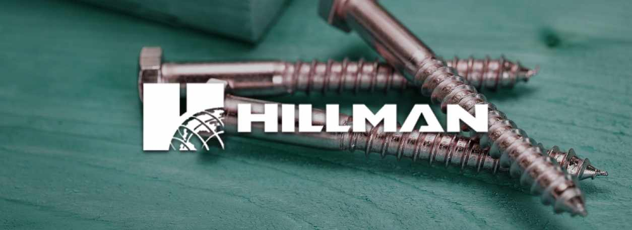 Hillman logo with Hillman fasteners