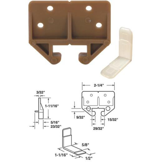 "Prime-Line 7/8"" x 29/32"" Polyethylene Track Guide (2 Count)"