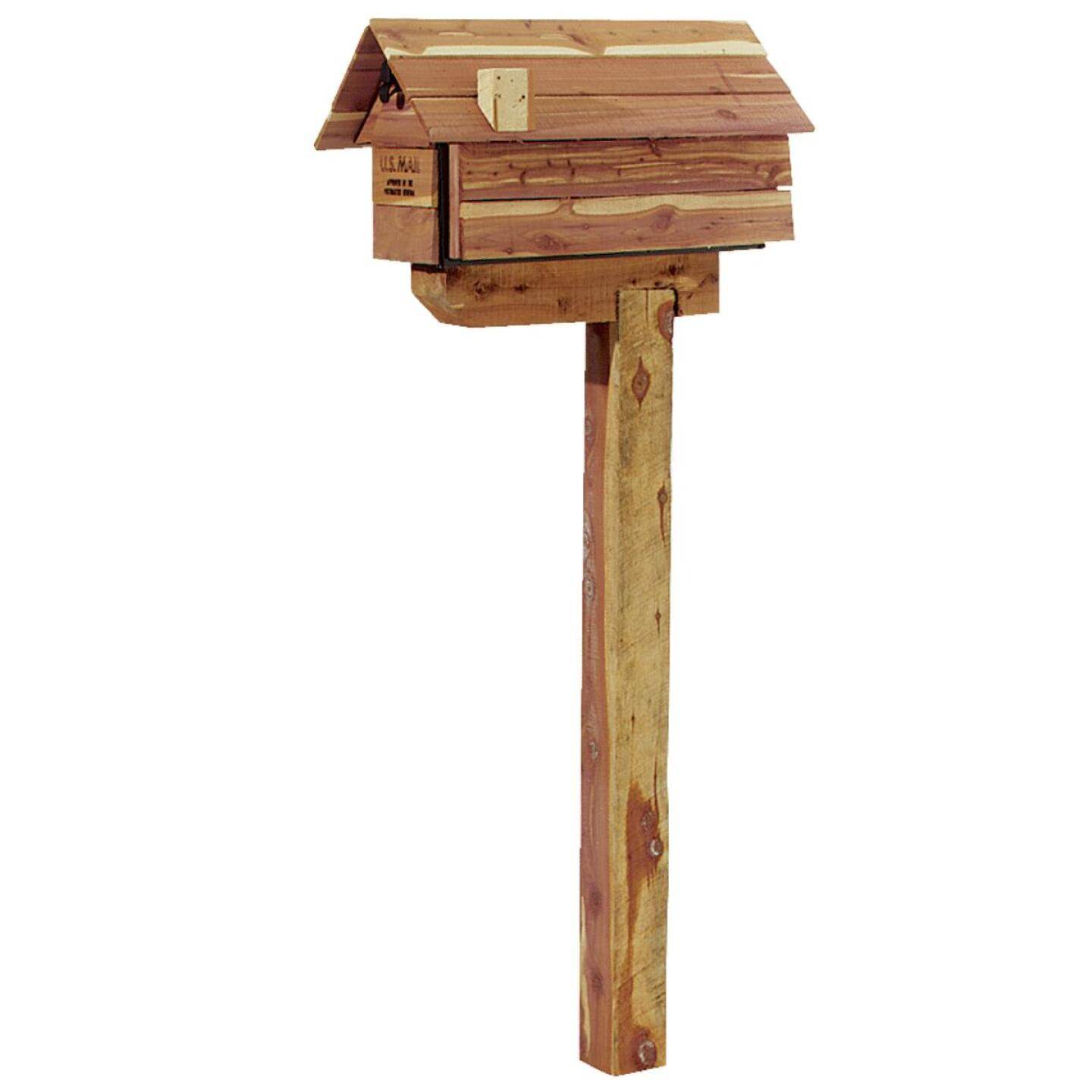 Gibraltar Red Cedar Drive-In Mailbox Post Kit Image 2