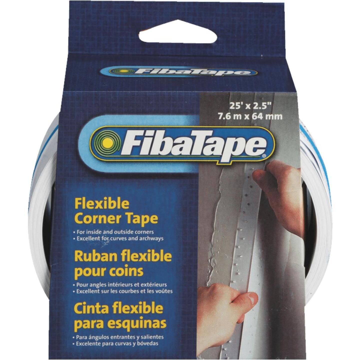 FibaTape Flexible Corner 2-1/2 In. X 25 Ft. Drywall Tape Image 1