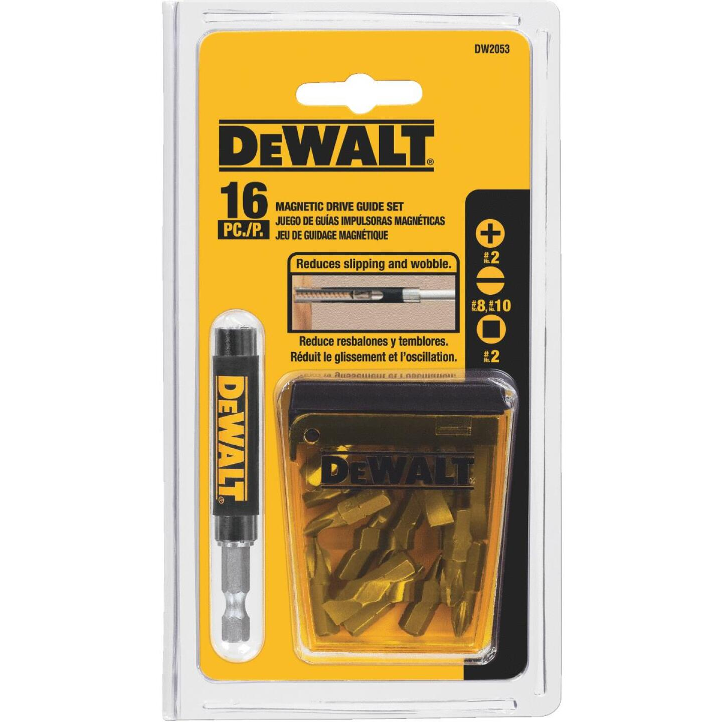 DeWalt 16-Piece Magnetic Drive Guide Screwdriver Bit Set Image 3