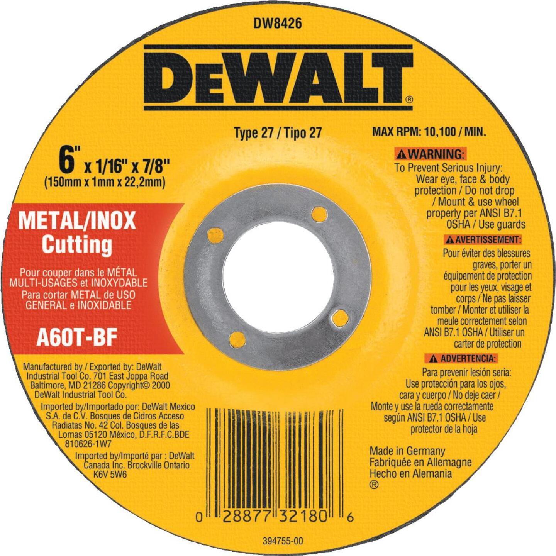 DeWalt HP Type 27, 6 In. Cut-Off Wheel Image 1