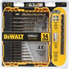 DeWalt 14-Piece Cobalt Drill Bit Set, 1/16 In. thru 3/8 In. Image 1
