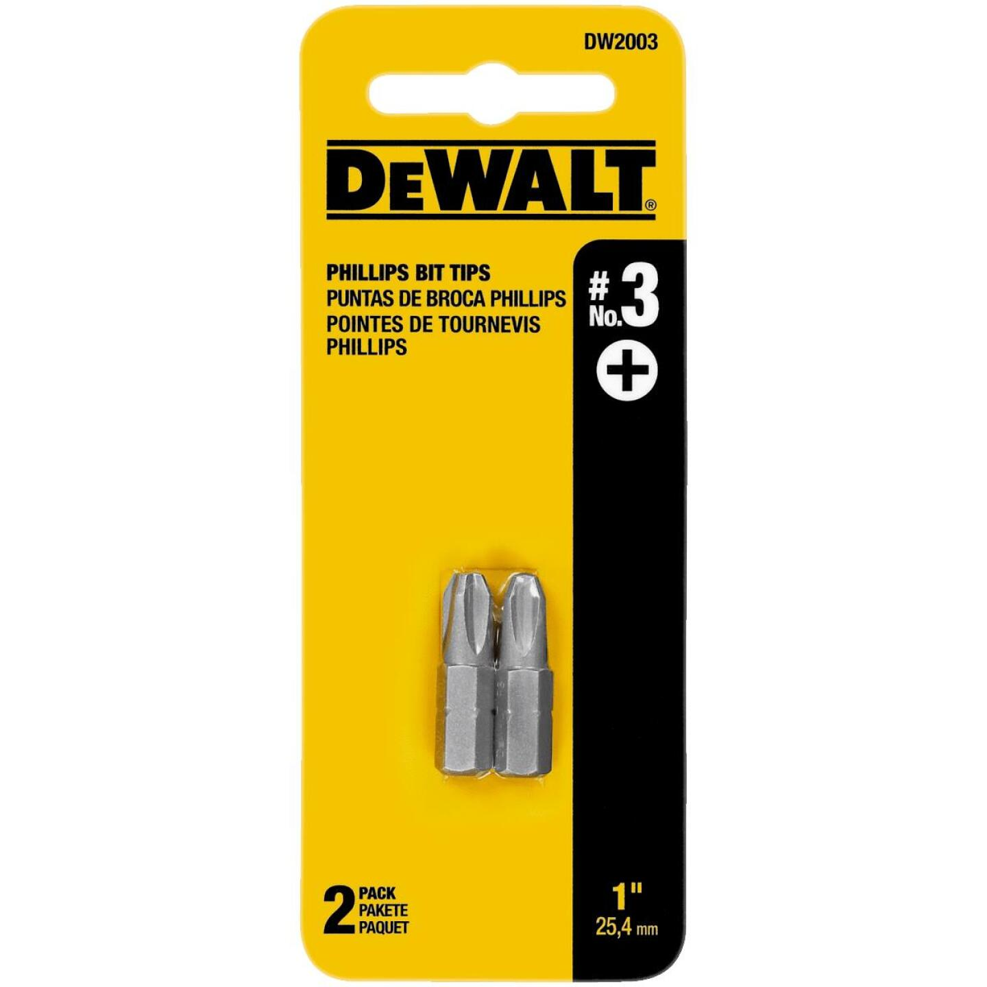 DeWalt Phillips #3 1 In. Insert Screwdriver Bit Image 1
