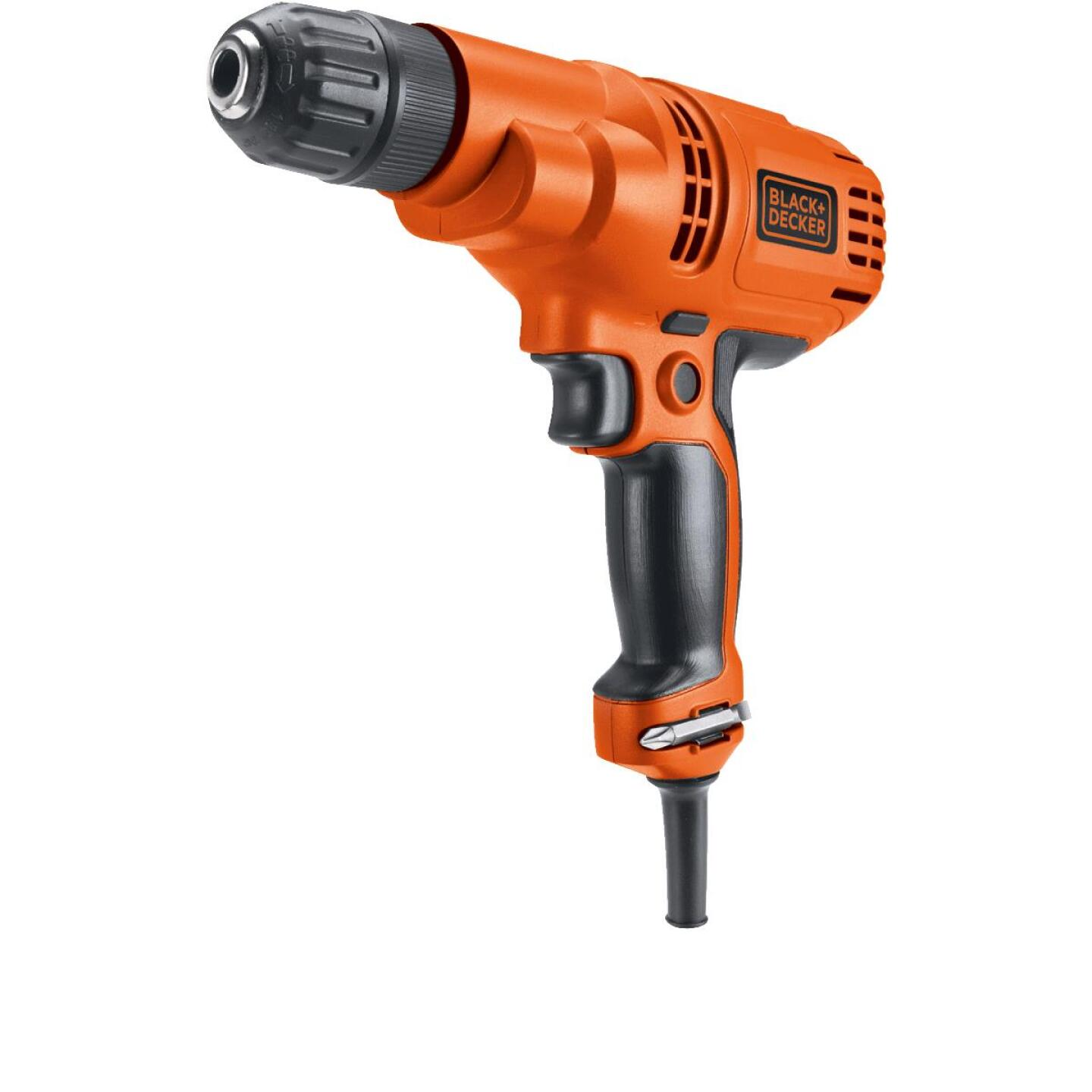 Black & Decker 3/8 In. 5.2-Amp Keyless Electric Drill/Driver Image 2