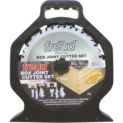 Freud 8 In. Box Joint Cutter Circular Saw Blade Set