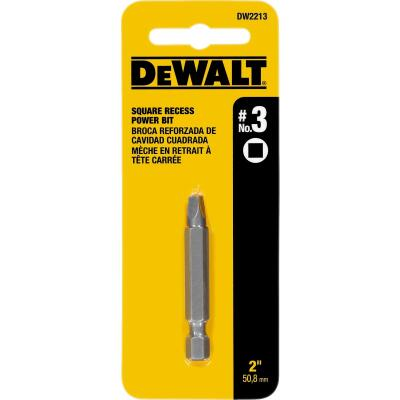 DeWalt Square Recess #3 2 In. Power Screwdriver Bit