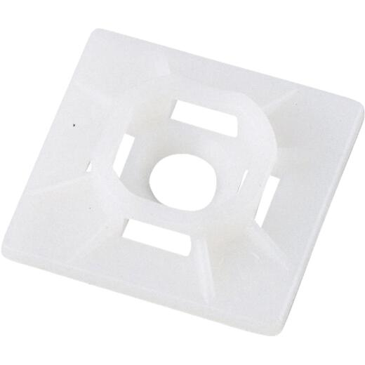 Gardner Bender 0.10 In. to 0.17 In. Natural Color Nylon Adhesive Cable Tie Mounting Pad (5-Pack)