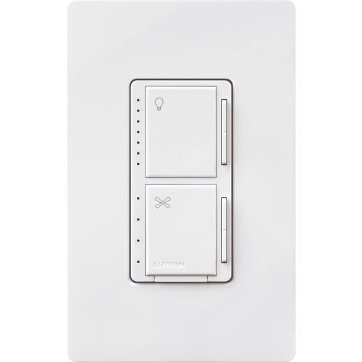 Lutron Maestro White Dimmer & Fan Control Switch