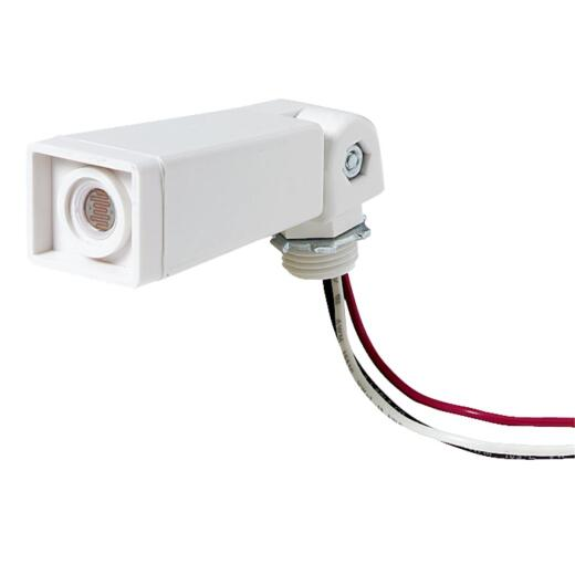 Do it Hard Wire White Floodlight Photocell Lamp Control