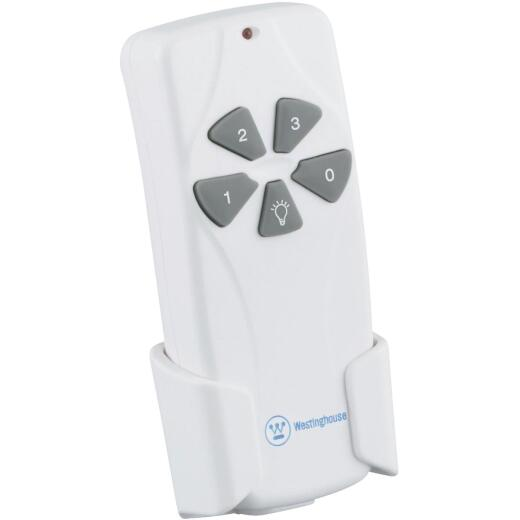Westinghouse White Universal 3-Speed Ceiling Fan Remote Control