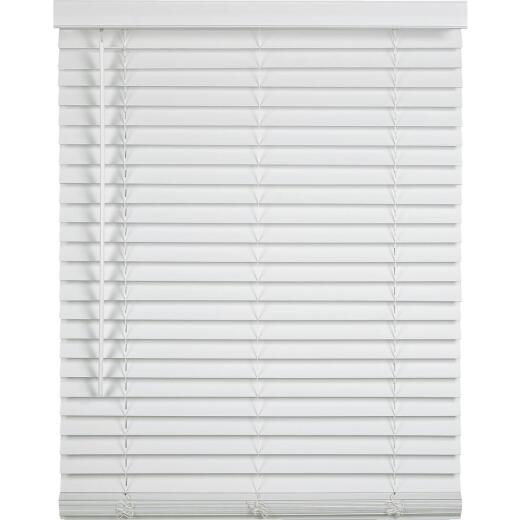 Home Impressions 35 In. x 64 In. x 2 In. White Faux Wood Cordless Blind