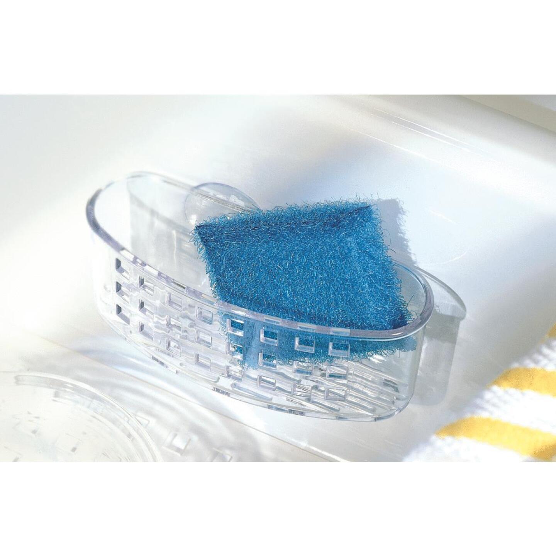 InterDesign Sinkworks Clear Suction Scrubber & Sponge Holder Image 2