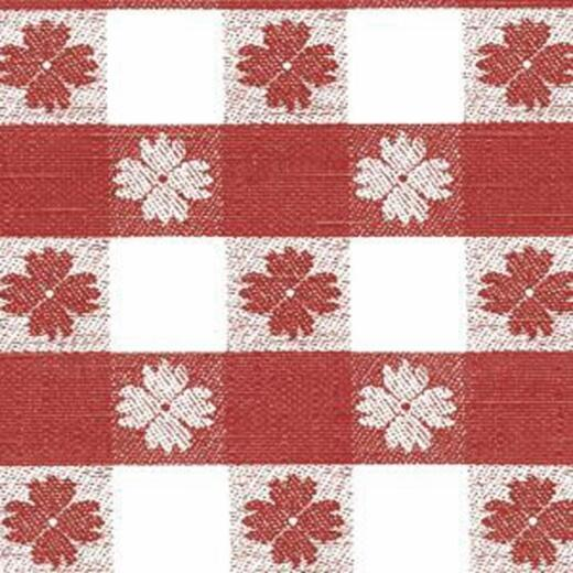 Nordic Shield 54 In. W. x 15 Yd. L. Tavern Check Red Flannel Backed Vinyl Tablecloth