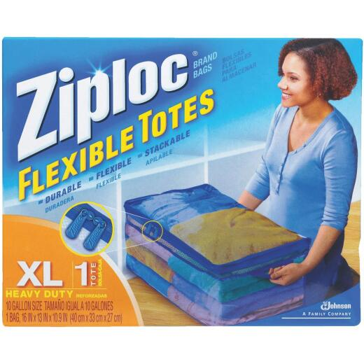 Ziploc Flexible XL 10 Gallon Heavy Duty Clothes Storage Bag Tote