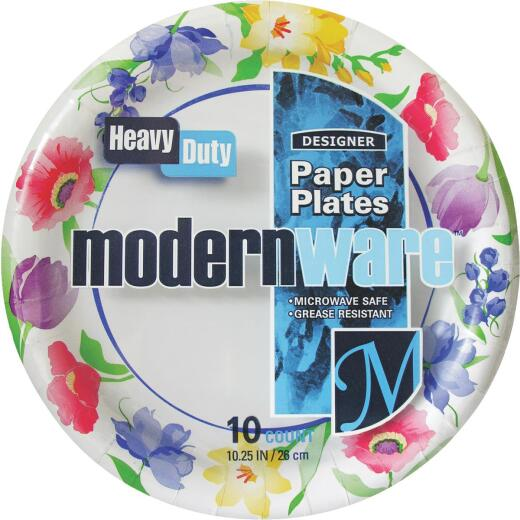 AJM 10-1/4 In. Modern Ware Paper Plate (10 Count)