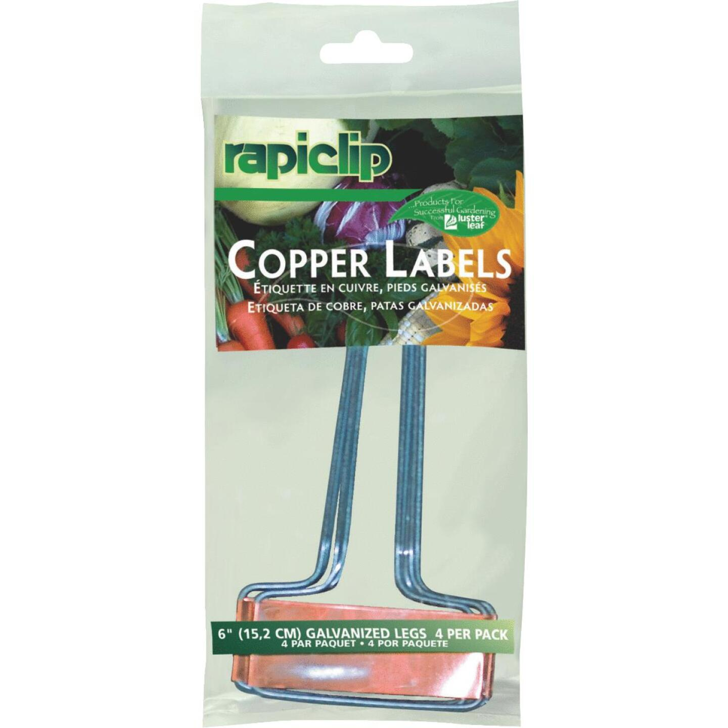 Rapiclip 6 In. Copper Plant Label (4-Pack) Image 1