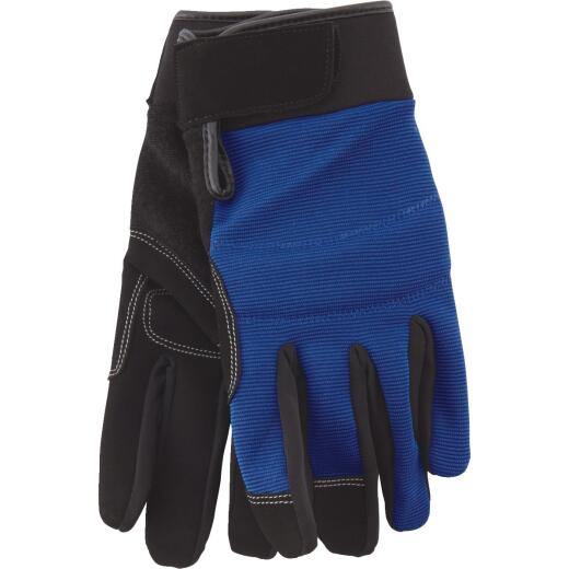 Do it Men's Large Polyester Spandex High Performance Glove with Hook & Loop Cuff