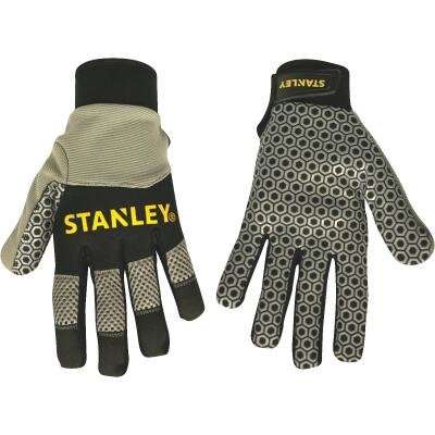 Stanley Men's XL Synthetic Leather Silicone Grip High Performance Glove