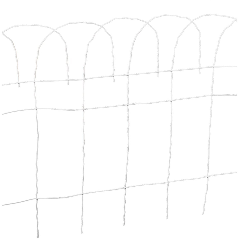 Best Garden 14 In. H x 20 Ft. L Galvanized Wire Decorative Border Fence Image 1