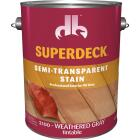 Duckback SUPERDECK Semi-Transparent Exterior Stain, Weathered Gray, 1 Gal. Image 1